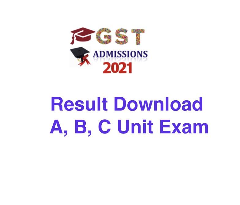 GST A, B, C Unit MCQ Result 2021 PDF Download Link www.gstadmission.ac.bd